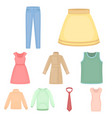 clothes set icons in cartoon style big collection vector image vector image