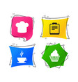 coffee cup icon chef hat symbol muffin cupcake vector image