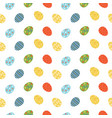 colorful easter eggs seamless pattern vector image vector image