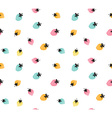 colorful strawberry background Seamless pattern of vector image vector image
