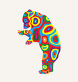 colorfully bear vector image
