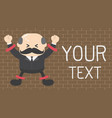 concept businessman stick on wall with torment vector image vector image