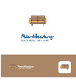 creative couch logo design flat color logo place vector image