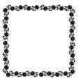 Delicate frame with black peony flowers vector image vector image