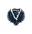 eagle or hawk with outstretched wings vector image vector image