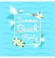 Event Summer beach party azure sky ocean vector image