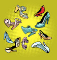fashionable womens shoes vector image vector image