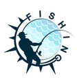 fishing symbol design vector image vector image