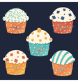 Five cupcakes vector image vector image