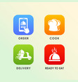 food order delivery icon design vector image