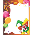 funny clown card vector image vector image