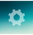 Gear in flat style icon vector image