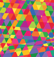 geometric pattern triangles background polygonal vector image vector image