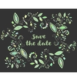 green greeting or save date card vector image