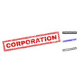grunge corporation textured rectangle watermarks vector image vector image