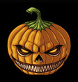 halloween pumpkin smile evil vector image