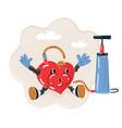 heart pump under pressure vector image vector image