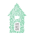 Home sweet home hand drawn poster vintage vector image vector image