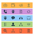 hr icons set collection of hierarchy reverse vector image vector image