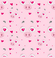 in love piggy pattern vector image vector image