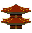 isolated colored asian building icon vector image