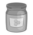 Jar of honey icon black monochrome style vector image vector image