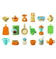 kitchenware sett kitchen utensils cookware for vector image