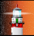 lighthouse lens vector image vector image