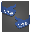 like signs vector image vector image