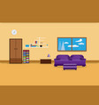 living room interior design relax with sofa vector image
