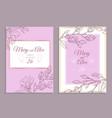 magnolia invitation modern floral wedding invite vector image vector image