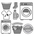 monochrome set with different elements laundry vector image vector image