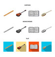 musical instrument cartoonflatmonochrome icons vector image vector image