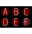 Neon alphabet vector image vector image