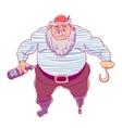 One-legged bearded pirate in bandana A man in vector image