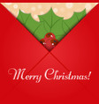 open christmas letter vector image