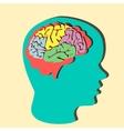 Paper brain vector image