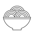 plate of spaghetti icon vector image vector image