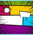 pop art comic book colored backdrop vector image vector image