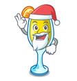 santa mimosa mascot cartoon style vector image vector image