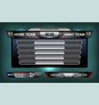 scoreboard elements football vector image