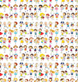 Seamless design of a group of people vector image vector image