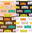 seamless kids bear pattern set vector image