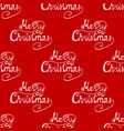 seamless pattern congratulation on a merry vector image vector image