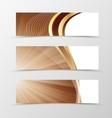 set banner vortex design vector image vector image