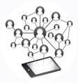 Social Media Abstract Communication vector image vector image