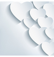 Stylish creative abstract background 3d heart vector image vector image