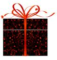 stylized gift box vector image vector image