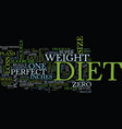 the perfect diet anyone text background word vector image vector image