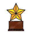 trophy star isolated icon vector image vector image